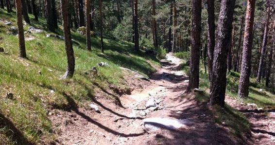 ruta bici de montaña